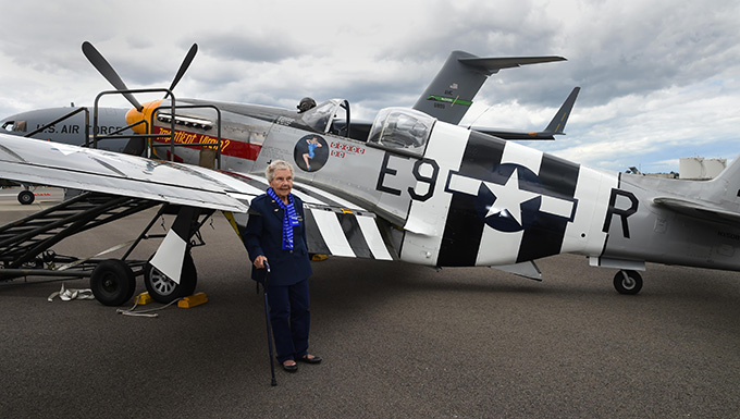 Women Airforce Service Pilot celebrates 100th birthday at JBLM