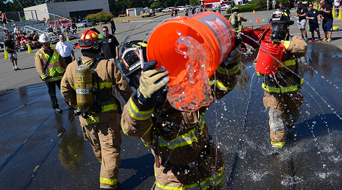 Team McChord firefighters host firefighter combat challenge